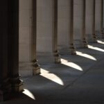 Ridgely Hall columns