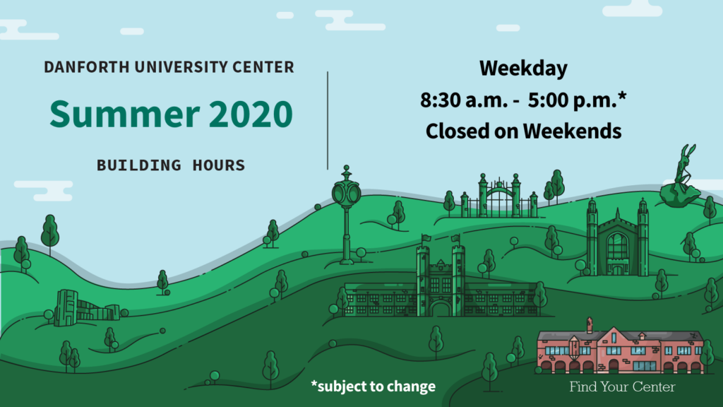 DUC Building Hours Summer 2020