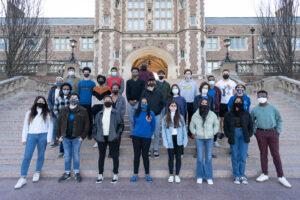 Ervin Scholars on Brookings Hall steps