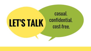 Let's Talk. Casual. Confidential. Cost-Free. Facebook.com/letstalkwashu