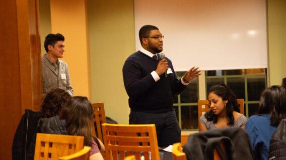 graduate student speaking
