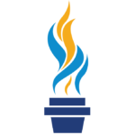Luminescence flame logo