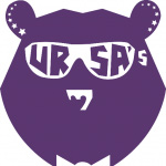 Ursa's bear with sunglasses logo