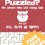 Ursa's Nite Life Hang Out Flyer