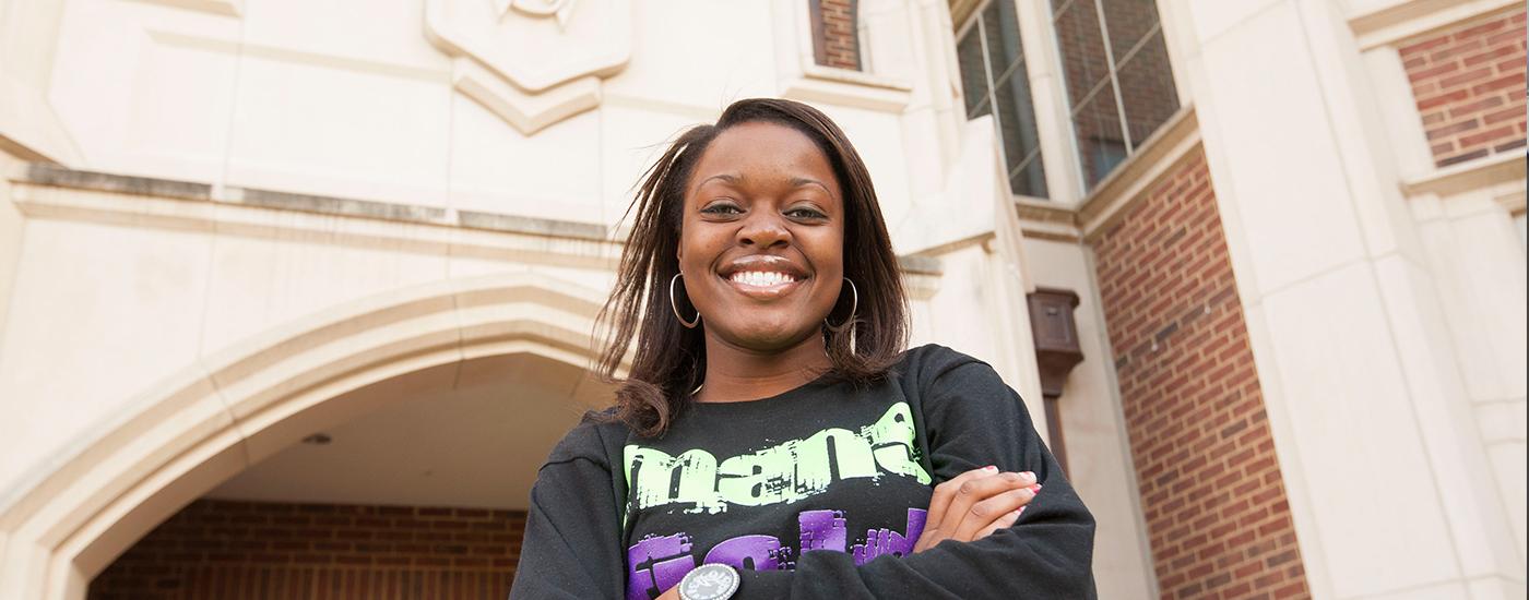 Smiling graduate fellow