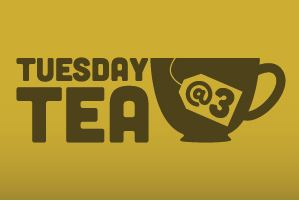 Tuesday Tea logo with cup and teabag