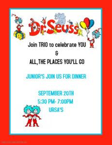 TRIO JUNIOR DINNER September 20, 2019