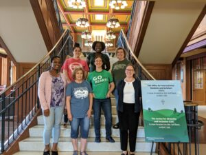 OISS Staff stop to take a picture after Tuesday Tea in the DUC.
