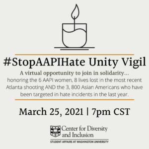 Stop AAPI Hate Unit Vigil